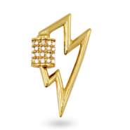Zirconia charm/connector thunder Gold