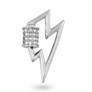 Zirconia charm/connector thunder Silver