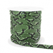 Stitched elastic ribbon snake Green