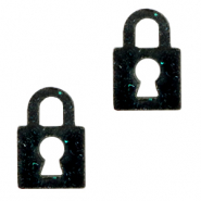Plexx charms lock shimmery Black