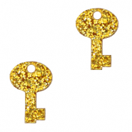 Plexx charms key glitter Golden Yellow
