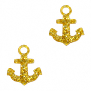 Plexx charms anchor glitter Golden Yellow