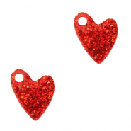 Plexx charms heart glitter Ruby Red