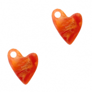 Plexx charms heart Warm orange