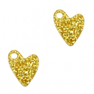 Plexx charms heart glitter Golden Yellow