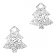 Plexx charms Christmas tree glitter Silver