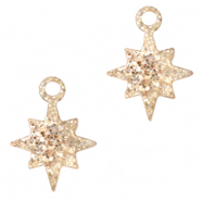 Plexx charms star glitter Rose Peach