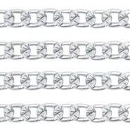 Belcher chain curb links Antique Silver (nickel free)
