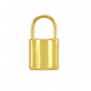 DQ European metal charms lock Gold (nickel free)