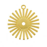 DQ European metal charms sun Gold (nickel free)