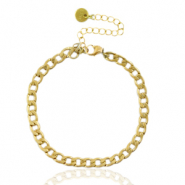 Stainless steel bracelets chain link Gold