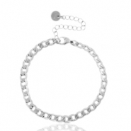 Stainless steel bracelets chain link Silver