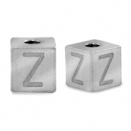 Stainless steel beads letter Z Silver