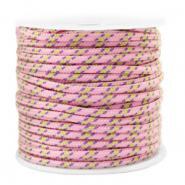 Maritime cord 2mm Pink-Yellow