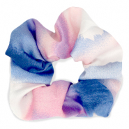 Scrunchie silky hair tie Pink-Blue
