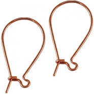 DQ earrings  DQ Rose Gold plated