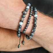 Inspirational Sets Rough jewellery for men with natural stone beads