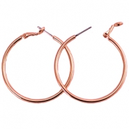 DQ creole earrings 30mm Rose gold plated