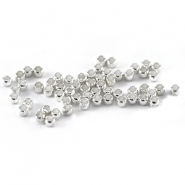 DQ crimp beads 2mm Silver plated