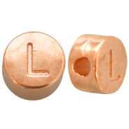 DQ metal letterbead L Rose gold (nickel free)