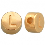 DQ metal letterbead L Gold (nickel free)