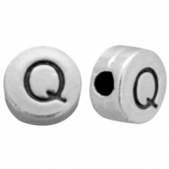 DQ metal letterbead Q Antique silver (nickel free)