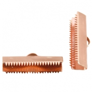 DQ lace clip 20mm Rose gold plated