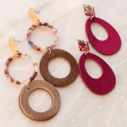 Inspirational Sets Trendy earrings of velvet!