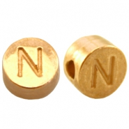 DQ metal letterbead N Gold (nickel free)