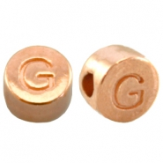 DQ metal letterbead G Rose gold (nickel free)