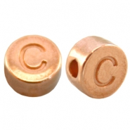 DQ metal letterbead C Rose gold (nickel free)