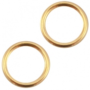 Closed DQ metal ring 13.5mm Gold (nickel free)