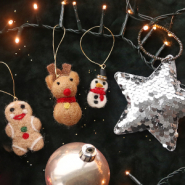 NEW New felt and sequin pendants for Christmas!