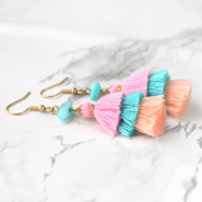 Inspirational Sets Earrings for summer with 3-layer tassels!