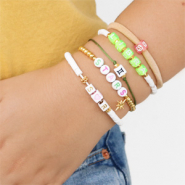 Inspirational Sets Summer bracelets with acrylic letter beads and zodiac beads