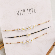Inspirational Sets Trend alert: Miyuki bracelets with letter beads