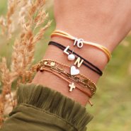 Inspirational Sets Trendy initials bracelets made with satin wire