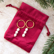 Inspirational Sets Gift set 4: Stylish earrings with freshwater pearls