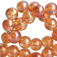 DQ glass beads 8mm Rose gold