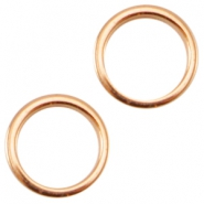 DQ metal closed ring 8x1.2mm Ø6mm Rose gold (nickel free)