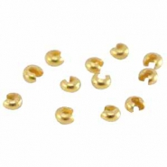 DQ metal brass crimp covers 4mm  Gold (nickel free)