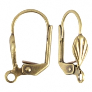 DQ metal closeable earring deco  Antique bronze (nickel free)