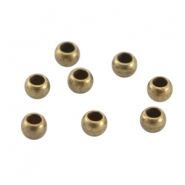 DQ metal crimp bead 3mm Antique bronze (nickel free)