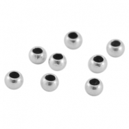 DQ metal crimp bead 3mm Antique silver (nickel free)