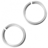 DQ metal jump ring 6.5mm Antique silver (nickel free)