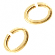 DQ metal oval jumpring Gold (nickel free)