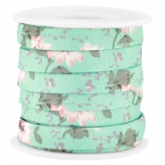 Trendy 10mm flat cord Mint green