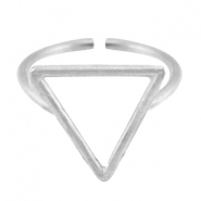 DQ metal ring traingle 15mm Antique silver (nickel free)
