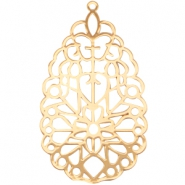 Drop shaped bohemian pendant Gold