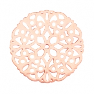 Round bohemian connector 20mm Rose gold